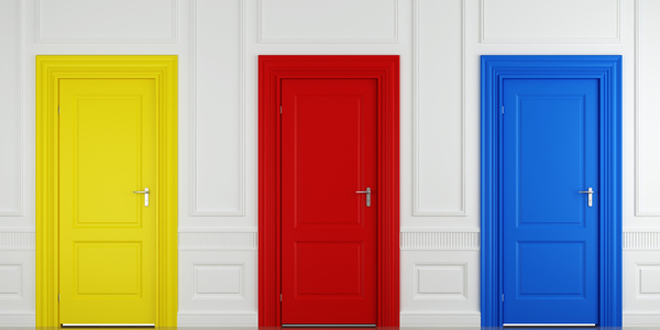 Break tradition and inject colour onto doors, frames and skirts